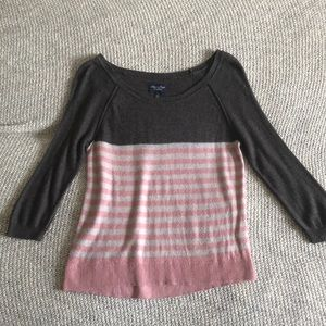 Grey, pink & white American Eagle sweater